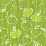 jabłko wektor deseniowy bezszwowy Obrazy Royalty Free