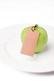 jabłko - zielona etykietka Obrazy Royalty Free