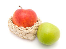 jabłko - zielony czerwony smakowity Zdjęcie Royalty Free