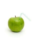 jabłko - zielony soczysty Zdjęcia Royalty Free