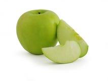 jabłko - zielony soczysty Fotografia Royalty Free