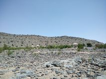 Jabal Akhdar, annons Dakhiliyah, Oman Arkivbild