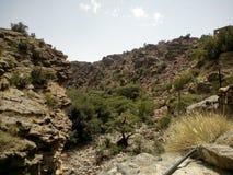 Jabal Akhdar, annons Dakhiliyah, Oman Arkivfoton