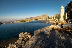 Jabal Akhdar, Oman - NOVEMBER 20: Oman Mountains at Jabal Akhdar in Al Hajar Mountains,2017 royalty free stock image