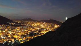 Jabal al Nour och klockatorn arkivfoton