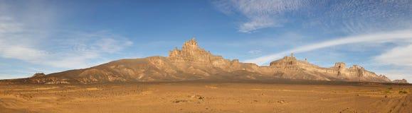 Jabal Idinin, Akakus (Acacus) Mountains, Sahara. Libya - Panoramic View royalty free stock photo