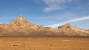 Jabal Idinin, Akakus (Acacus) Mountains, Sahara. Libya - Panoramic View stock photos