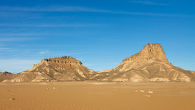 Jabal Idinin, Akakus Mountains, Sahara, Libya. Jabal Idinin, Akakus (Acacus) Mountains, Sahara, Libya - Panoramic View royalty free stock image