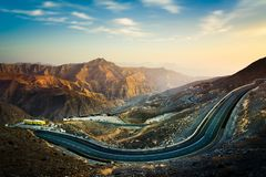 Jabal Jais il più alta montagna nei UAE Immagini Stock