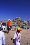 Jabal Rahmah i Arafah Arkivfoton