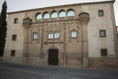 Jabalquinto Palace. Is a building of civil architecture located in the walled city of Baeza ( Jaen ) and one of the heritage symbols More highlights of it and Royalty Free Stock Photography