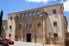 Palace of Jabalquinto from Baeza Spain. The Jabalquinto Palace in the Spanish city of Baeza. It is one of the imposing palaces and old buildings that we can Royalty Free Stock Image