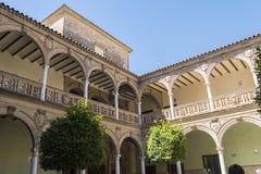 Jabalquinto slott, Baeza, Spanien Arkivbilder