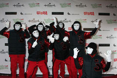 Jabbawockeez obtient à la Hollywood Christmas Parade 2011 Photos stock