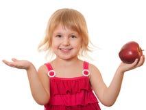 jabłczanej dziewczyny mała czerwień Obraz Stock