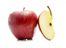 jabłczany cięcie Zdjęcia Royalty Free
