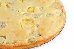 Jabłczany kulebiak na białym tle, Obrazy Stock