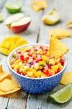 Jabłczany mangowy salsa Obraz Royalty Free