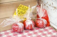 jabłek cukierku karmelu czekoladowy odbicia toffee Zdjęcie Royalty Free