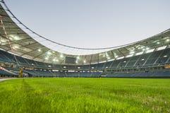 Jaber stadium. Empty soccer stadium (Jaber stadium in Kuwait Stock Photos