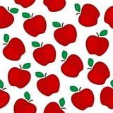 jabłka deseniują czerwień bezszwową Zdjęcia Royalty Free