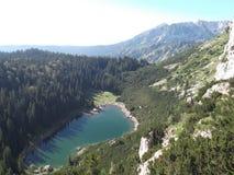 Jablan sjön, den Durmitor nationalparken Royaltyfri Foto