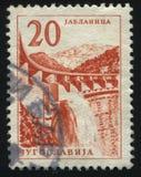 Jablanica hidroelectric arbeten Royaltyfria Bilder