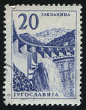 Jablanica hidroelectric arbeten Fotografering för Bildbyråer