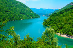 Jablanicko Lake, on the Neretva River Royalty Free Stock Images