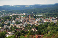 Jablonec nad Nisou, Czech republic. Town Jablonec nad Nisou lies below the Jizera Mountains in Northern Bohemia, Czech republic Royalty Free Stock Image