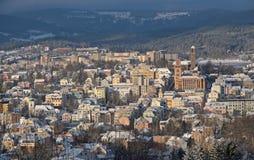 Jablonec nad Nisou, Tjeckien Arkivbild