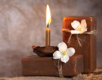 Jabón hecho a mano natural. Balneario Fotos de archivo