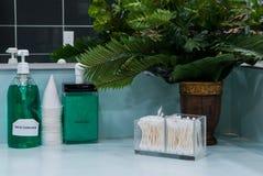 Jabón y enjuague de la mano Imagen de archivo libre de regalías