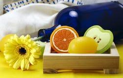 Jabones con sabor a fruta foto de archivo