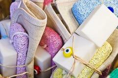 Jabones hechos a mano Fotografía de archivo libre de regalías
