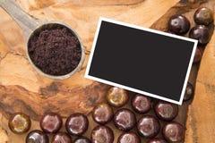 Jaboticaba brazilian berry on wooden table Plinia cauliflora royalty free stock image