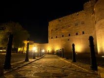 Jabreen Castle at night. Jabreen Castle, Ad Dakhiliyah region, Oman Royalty Free Stock Photo