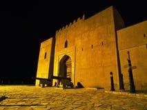 Jabreen Castle at night. Jabreen Castle in Bahla, Oman Stock Photos