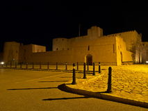 Jabreen Castle at night. Night view on Jabreen Castle, Oman Royalty Free Stock Photo