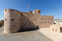 Jabrin Castle. One of the most attracting cultural landmarks of Oman. Constructed in the mid-1600s and is even today considered as one of the best and most Stock Photos