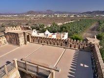 Jabrin - kasteel en stad in Oman Stock Afbeeldingen