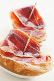 Jabugo ham tapas Royalty Free Stock Images