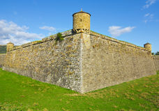 Jaca Citadel is a pentagonal fortification, in Jaca, Spain Royalty Free Stock Photography