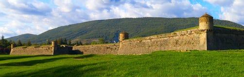 Jaca de Citadel is een pentagonaal vestingwerk, dat in de recente zestiende eeuw wordt gebouwd stock foto's