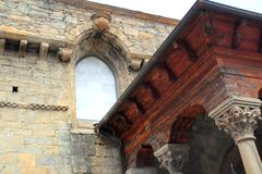 Jaca romanesque cathedral church Pyrenees spain Royalty Free Stock Photos
