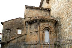 Jaca romanesque cathedral church Pyrenees spain Stock Photo