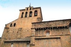 Jaca romanesque cathedral church Pyrenees spain. Huesca Aragon Royalty Free Stock Images