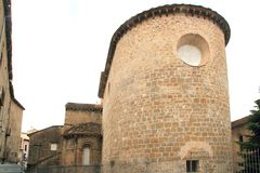 Jaca romanesque cathedral church Pyrenees spain. Huesca Aragon Stock Image