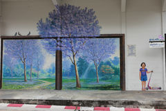 Jacaranda jest symbolu drzewem Trang prowincja Obraz Royalty Free