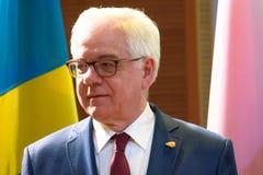 Jacek Czaputowicz, minister Cudzoziemski - sprawy Polska zdjęcia royalty free